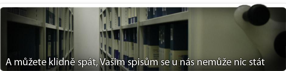 Uložené spisy v archívu AMEX Brno
